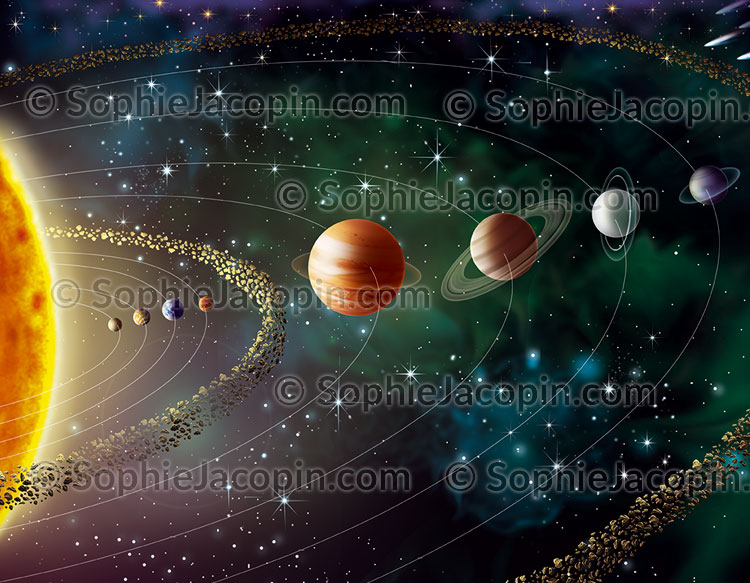 Illustration medicale_Système solaire