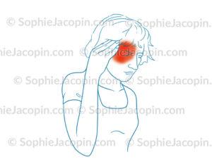 Migraine ophtalmique, maux de tête, céphalées - © sophie jacopin