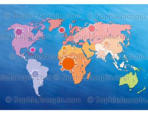 Carte du sida en 2011