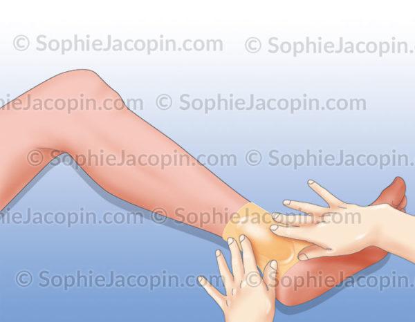 Application pansement cicatrisant imperméable