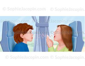 Contamination d'une maladie virale par éternuement - © sophie jacopin